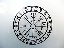 Icelandic Compas Vegvisir gods myths stickers/car/van/bumper/window/decal 5203bk