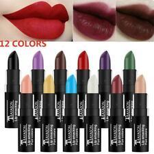 12Colors Lip Gloss Makeup Lip Matte Lipstick Long Lasting Dark Liquid K1N2