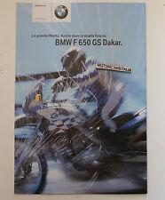 BMW F650 GS  DAKAR  PIEGHEVOLE  DEPLIANT BROCHURE RECLAME PROSPEKT PUBBLICITA 1