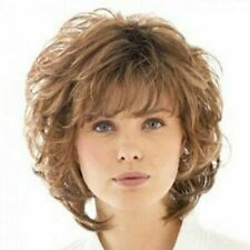 Fashion Fluffy Curly Light Brown Synthetic Elegant Capless Wig Hair For Women
