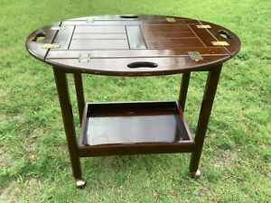 The Bombay Company Modern Rolling Folding Bar Tea Cart Server tray Campaign