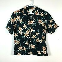 Paradise Found Hawaiian Shirt Genuine Short Sleeve Shirt Size Men's Large