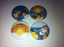 4 The Mysterious Cities of Gold button badges cult retro 80s 90s kids TV UK USA