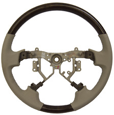 2008-2011 Toyota Avalon Steering Wheel Light Gray Leather W/Dark Woodgrain New