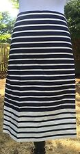 J.CREW THE PENCIL SKIRT IN COLORBLOCK STRIPE SIZE 16 STYLE B8186