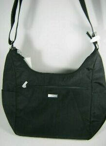 Baggallini Black Nylon Hobo Crossbody Bag NWT