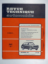 Revue Technique Automobile - FIAT 127 - DÉCEMBRE 1972 - N° 319