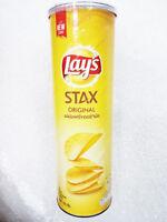 Lays STAX Crisps Crispy Potato Flat Sheets Chips Snack - Original Flavour 100g