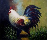 Quality Hand Painted Oil Painting, the Rooster, 20x24in