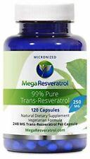 Mega Resveratrol, Pharmaceutical Grade, 99% Pure, Micronized Trans-Resveratrol,