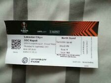 More details for leicester city v ssc napoli 16.09.21 europa league group c used ticket stub