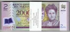 2011 2000 Guaranies Paraguay Polymer C  Pack of 100
