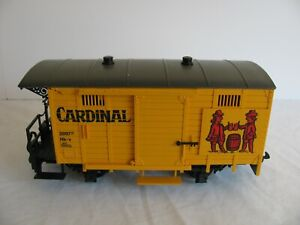 Vintage LGB G Scale Cardinal Beer Billboard Reefer Box Car #4034 EX