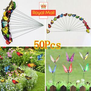 50pcs/set Waterproof Butterfly Garden Wall Art Ornament Home Outdoor Decor UK