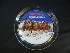 BUDWEISER CLYDESDALE GLASS SERVING TRAY BY INDIANA GLASS (1995)
