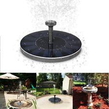 Solar Panel Powered Water Feature Pump Garden Pool Pond Aquarium Fountain 200L/H