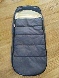 Venice Child Stroller Blanket Cover Denim Blue Zipper EUC Unisex Boy Girl