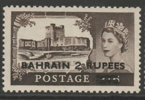 Bahrain MINT 1955-60 2r on 2/6- black-brown Waterlow Type 1 sg94