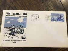 Stamps Canada Fdc 1958-Verendrye Brothers in the far west #378
