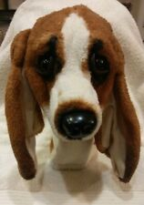 Rare Noah's Golf Kingdom Puppy Dog Golf Head Cover Puppet Toy Plush Brown EUC