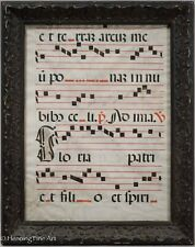 Medieval Catholic Latin Manuscript on Vellum Double Sided & Framed!