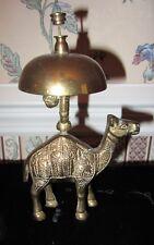 Vintage Ornate Camel Brass Bell Hotel Front Desk Service Bell