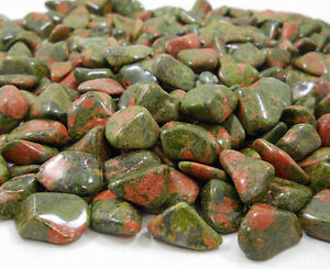 "UNAKITE 5 MD/SM 3/4"" Tumbled Stone Crystal Healing Reiki Wicca Mineral Gemstone"