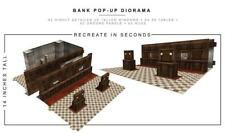"In STOCK ""Bank"" Pop-Up DIorama Display 1/12 Scale Action Figures"