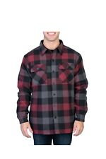 Mens Maxsell Long Sleeve Button Down Plaid Flannel Jacket