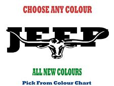 JEEP 900mm LONGHORN DECAL *CHOICE OF COLOURS*  RM Williams STICKER