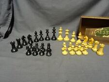 Vintage Boxed Wooden Staunton Style Chess Set - 7.8cm King