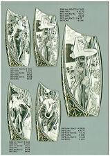Placca Virgola Icona 4 Stagioni Argento Bilaminato Comunione Battesimo Nozze