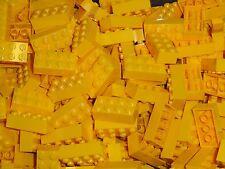 NEW LEGO Yellow 2X4 Bricks Bulk Lot of 100 Pieces 3001 Free Shipping