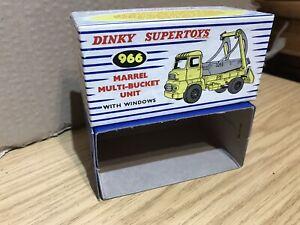 Dinky Toys #966 Marrel Multi Bucket Original Empty Box ⭐️⭐️⭐️⭐️⭐️