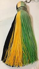 Large Tassel -Black  Yellow  Green-Flag Colors - Hang in Car or on Your KeyRing