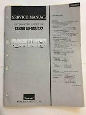 SANSUI AU-D33 AU-D22 AMPLIFIER ORIGINAL SERVICE REPAIR MANUAL