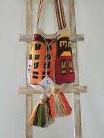 "Crocheted Tribal ""Casitas"" Wayuu Mochila Cross-body Bag"