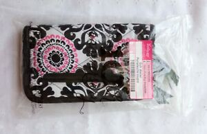 Thirty One Soft Wallet Pink Black White Pop Medallion New in Bag Fun Print