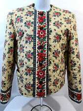 Vera Bradley Vintage Retired Marigold Floral Quilted Jacket Coat M 1992-1993
