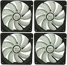 4 x Gelid Solutions Silent 14 140mm Case Fan 1000 RPM, 64 CFM, 21.0 DBA