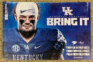2019 Kentucky Wildcats Kash Daniel Football Poster Double Sided