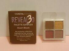 Coastal Scents Revealed 3D Mineral Eyeshadow Palette Sampler Desert Bloom Quad