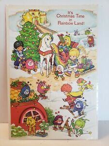 Vintage Rainbow Brite Advent Calendar 1983 Hallmark Holiday Christmas USA Tree