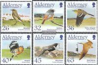 GB-Alderney 236-241 (kompl.Ausg.) postfrisch 2004 Zugvögel: Sperlingsvögel