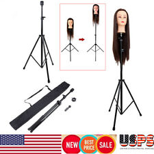 Mannequin Head Tripod Hairdressing Training Head Holder Hair Wig Stand Tool US