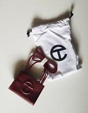 TELFAR Designer SMALL Shopping Bag NWT! Handbag- Oxblood Vegan Leather *IN HAND*