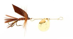 Joes Short Striker Classic Spinner Fly w/Treble Hook #8 March Brown 131-8