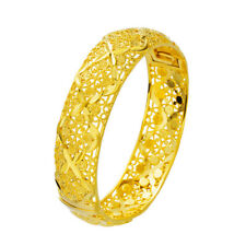 Gold Filled 60Mm Jewelry Fashion Gift Women's Exquisite Bangle 16mm 18k Yellow
