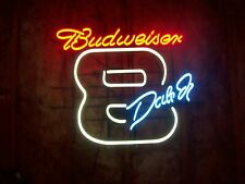 """Nascar """"Dale Jr"""" Neon Budweiser Sign 33�x38�x6� Frame,Rare in great condition"""