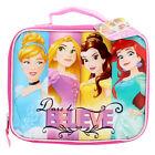 Disney Princess DARE TO BELIEVE SCHOOL INSULATED LUNCH BAG Lonchera Insulada NEW